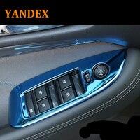 Yandex Stainless steel Scratch resistant armrest window switch panel 4pcs for Chevolet 2016 2017 2018 Malibu accessories