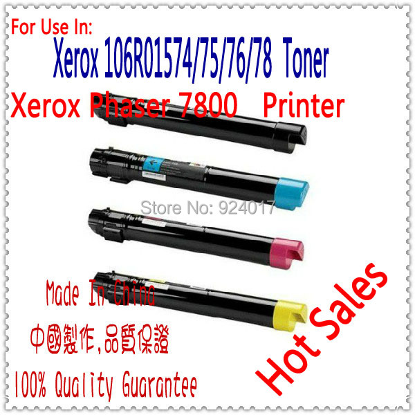 For Xerox 106R01573 106R01572 106R01571 106R01570 Color Toner Cartridge,For Xerox Phaser 7800 7800N 7800DN 7800DX 7800GX Toner lanshulan bling glitters slippers 2017 summer flip flops shoes woman creepers platform slip on flats casual wedges gold