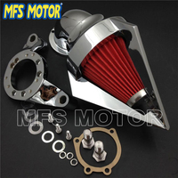 Motorcycle Part Cone Spike Air Cleaner intake for CV Carburetor Delph V Twin CHROME