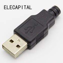 IMC Горячее предложение 10 шт. Тип Мужской USB 4 булавки разъем с черным пластик крышка