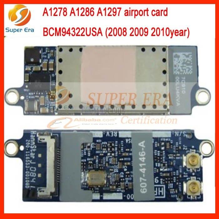 BCM94322USA Carte Wifi D'origine Pour Macbook Pro unibody A1278 A1286 A1297 2008-2010 607-4144-A 607-6334-A 607-4148-A 607-4145-A