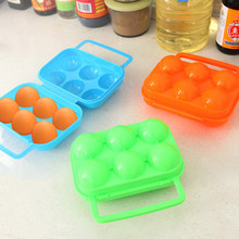 Podwójne zamki szekla jaja pudełka PP stojak na jajka pudełka na kemping