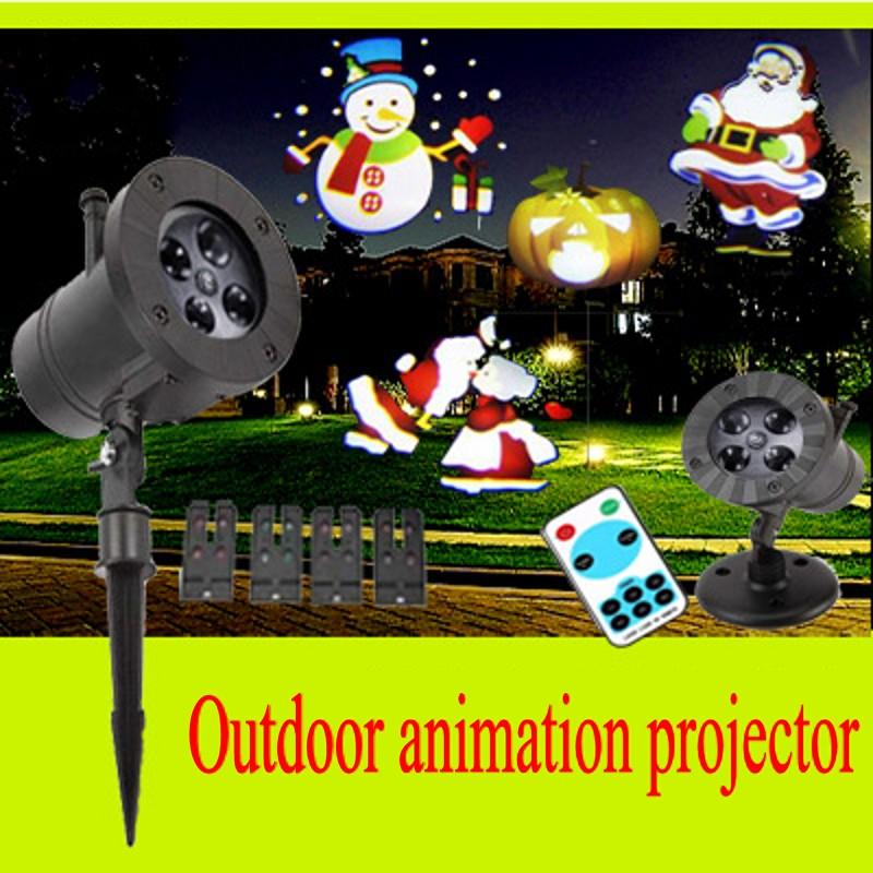 Outdoor Waterproof Garden Lawn LED Laser Projector Indoor Holiday Christmas Spotlight Children's Room Cartoon Decoration Lamp