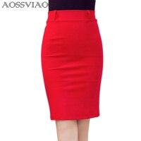 Summer Style Pencil Skirt Women High Waist Skirts Eomens Vintage 2016 Elegant Bodycon Bird Midi Solid