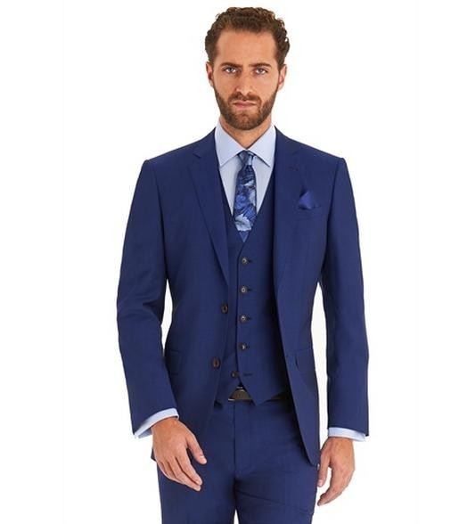 Top Selling custom made /Ball Gowns Royal Blue men suits slim Two ...