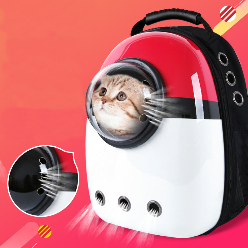 Pet Dogs Cat Double Shoulder Bag Travel Bag Cave For Cat Bag Space Capsule Breathable Small Pet Handbag Cat-carrying Backpack