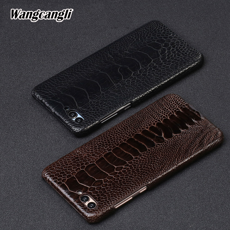 Wangcangli natural Ostrich foot skin case for Huawei Nova 2s Genuine Leather phone   protection Back shellWangcangli natural Ostrich foot skin case for Huawei Nova 2s Genuine Leather phone   protection Back shell