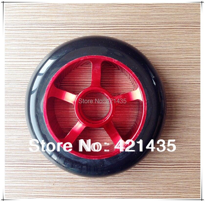 Prix pour 74L-29 livraison gratuite coloré Aluminium métal Freestyle Stunt Scooter de roue noir rouge Aluminium 5 parlé 100 mm 1 conjunto = 2 roues Scooter