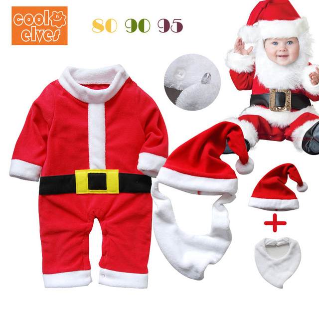 dbac8e6ad Baby Christmas Costume Baby clothes Baby crawling clothing Boy and Girl Baby  Dress Up Santa Claus Costume Christmas present