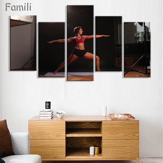 5 pcs Mur Art Affiche Musculation Exercice de Remise En Forme Sport ...