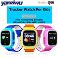Frete Grátis Q90 Telefone GPS Posicionamento Crianças Da Forma do Relógio 1.22 polegadas Tela Colorida Sensível Ao Toque Anti Perdido WIFI GPS SOS Inteligente relógio