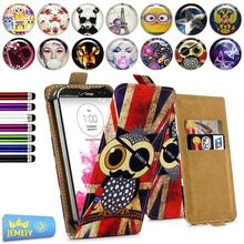HOT!!! printed universsal flip leather case bag cover for LG Ray X190/LG G Stylo LS770 with car holder large size
