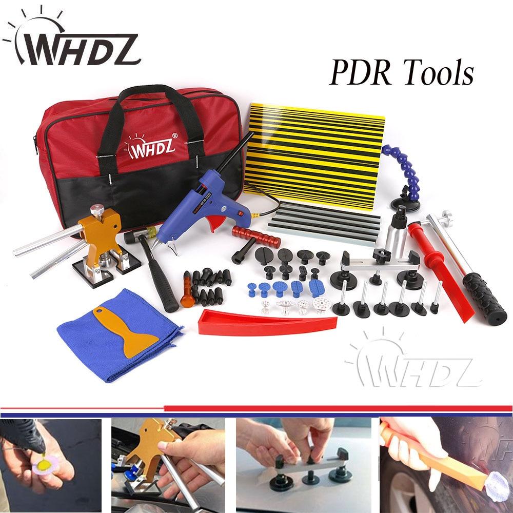 купить 41pcs Auto Body Paintless Dent Removal Repair Tools Kits Dent Lifter Slide Hammer Pro Tabs Tap Down PDR Reflector Board по цене 6852.64 рублей
