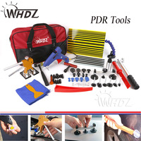 41pcs Auto Body Paintless Dent Removal Repair Tools Kits Dent Lifter Slide Hammer Pro Tabs Tap Down PDR Reflector Board