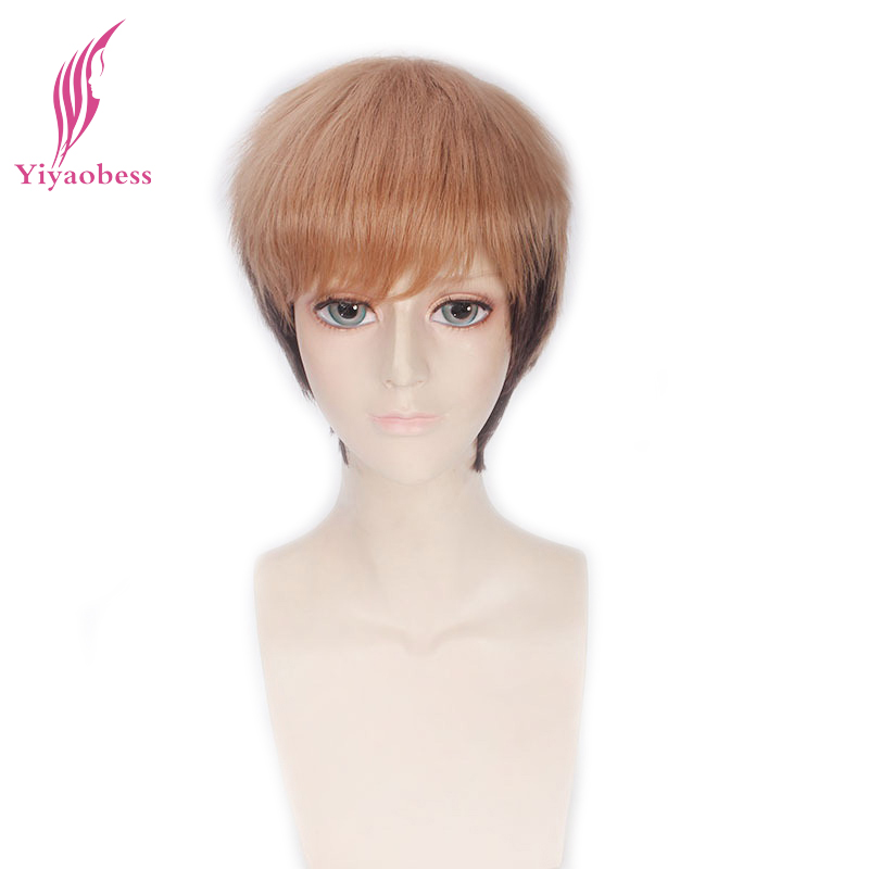 Yiyaobess Attack on Titan Jean Kirschtein Cosplay Wig Short Straight Brown Ombre Wigs Fo ...
