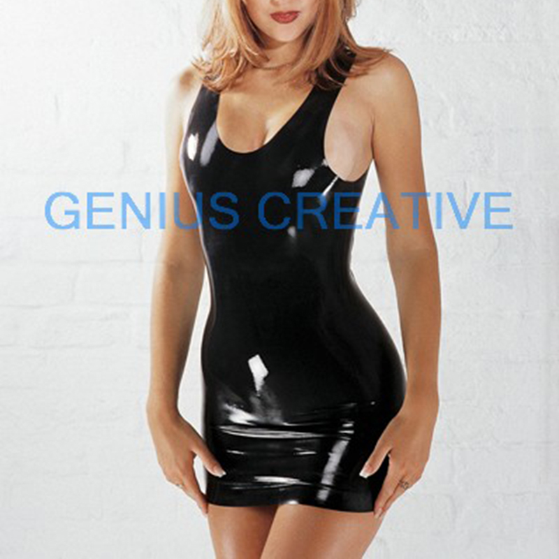 New Latex  Sexy Mini Vest Seamless Mould Products Black And Pink ,red Color