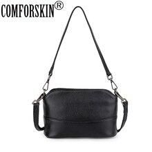 COMFORSKIN Brand Luxurious 100% Cowhide Travelling Shoulder Bag 2019 Bolsa Feminina European And American Ladies Messenger Bags