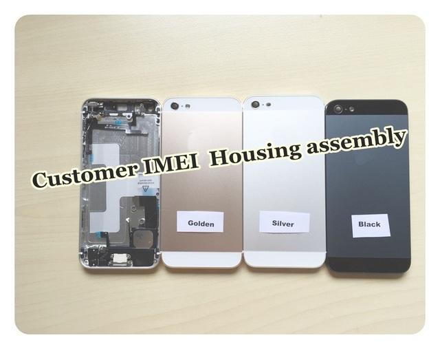 Fundas para iphone 5 5g 5S imei personalizado chassis completo voltar assembléia habitação porta da bateria da tampa da liga de metal iphone5