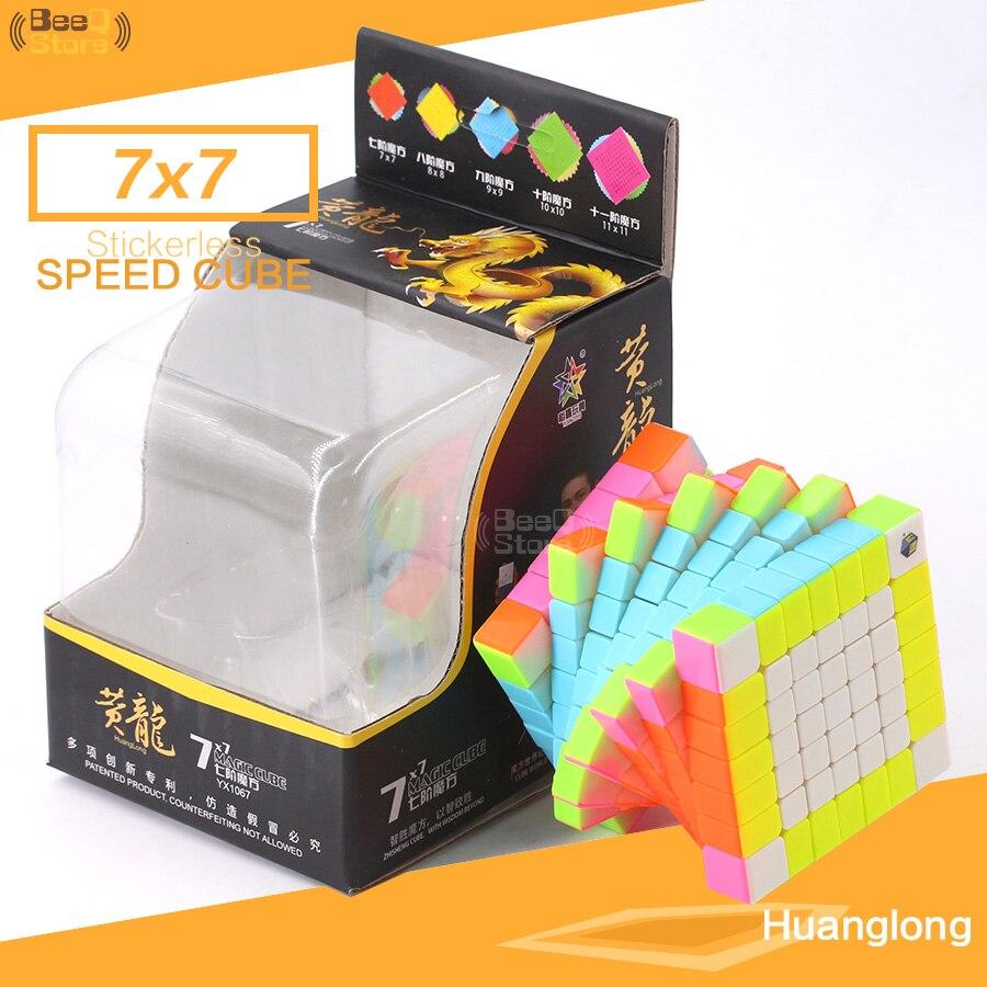 Yuxin Zhisheng Huanglong 7x7x7 7 couches Cube vitesse 7x7 Puzzle sans autocollant pour joueur professionnel pour apprentissage jouet éducatif