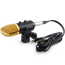 BM100 USB Condenseur Microfone Enregistrement Sonore Audio Traitement Filaire Microphone Avec Support pour Radio Braodcasting KTV Karaoké PC