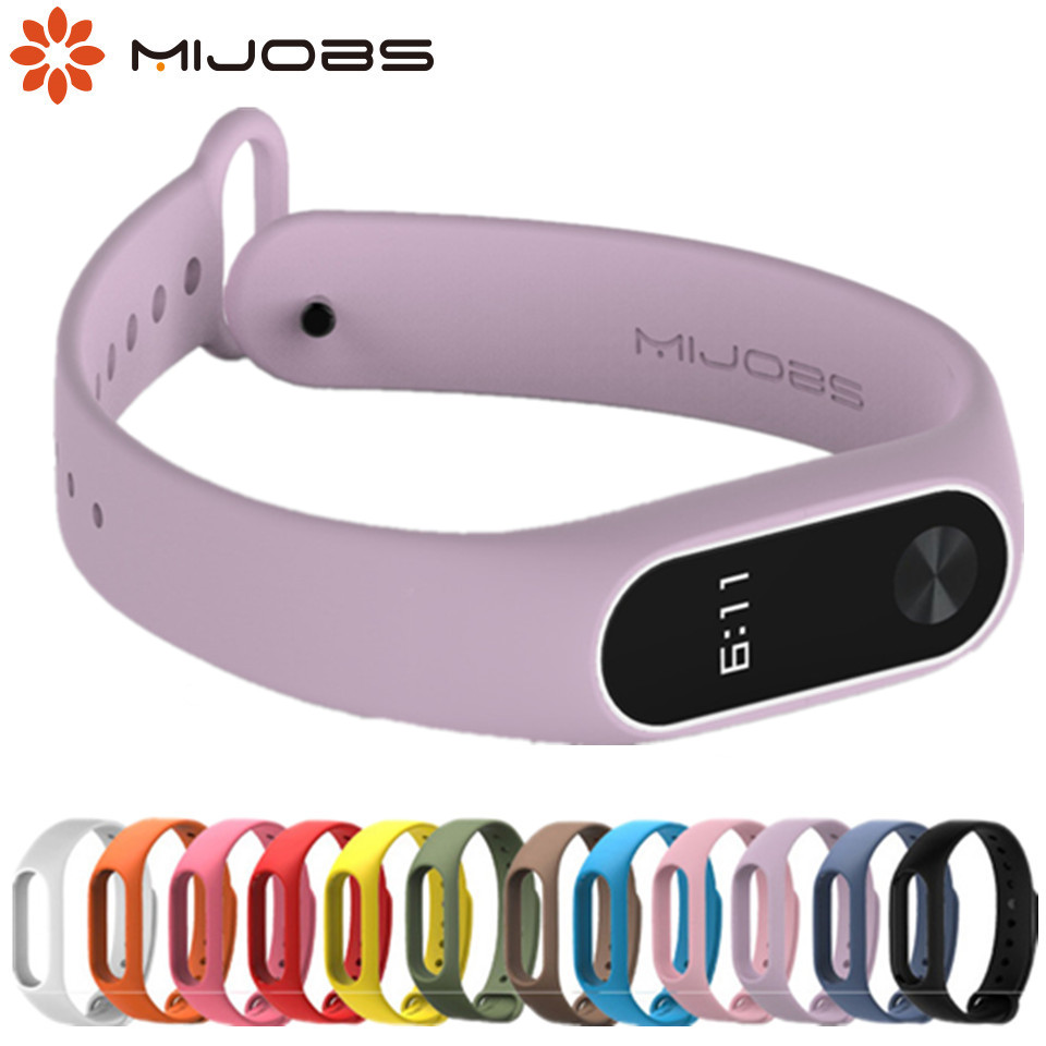 mi band 2 Strap Bracelet Accessories Pulseira Miband 2 Replacement Silicone Wriststrap Smart Wrist for Xiaomi Mi Band 2 Strap(China)
