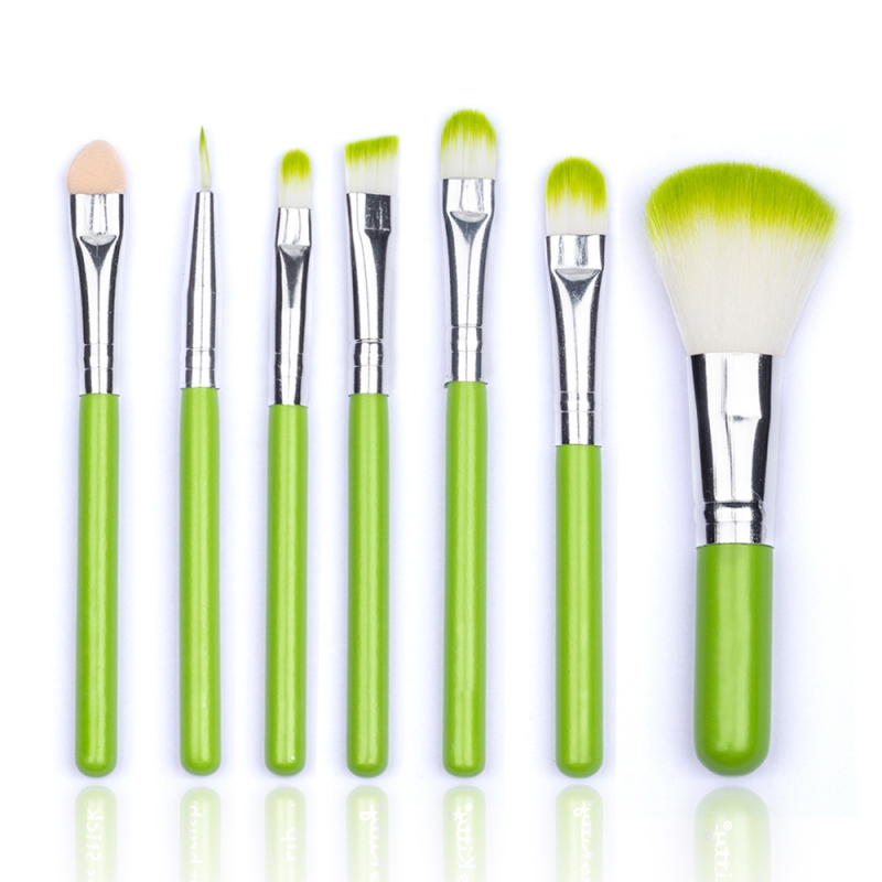 Low Price 7pcs/Sets 3 Colors Brushes Face Professional Foundation Brushes Eyeshadow Lip Cometics