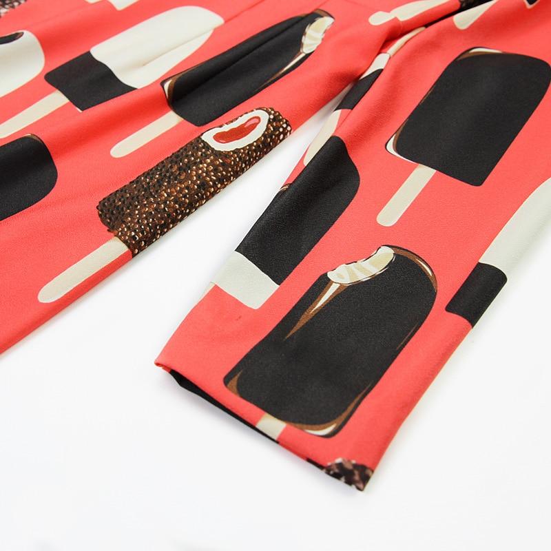 Robe Imprimé Multicolore De Femmes Longues Longueur Printemps Au Sirène À Manches Designer Genou Haute Qualité Truevoker Glace xfqREHwyg