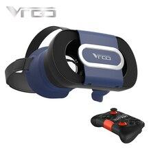 """RITECH VRGO 3D VR VR Очки Виртуальной Реальности Очки Шлем Compitable для 4.7-6.0 """"IOS Android Телефоны + беспроводной Геймпад"""