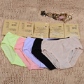 Hot Sale Sexy One Piece Underwear Mid Waist Women Briefs Lady's Panties Model Breathable Female Pamties Candy Color free size