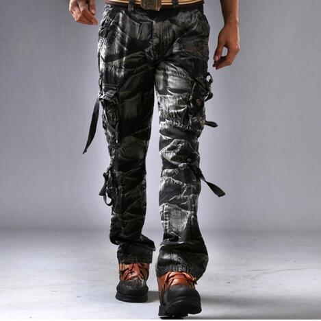 Wholesale 2017 New Fashion Uniform Pants Mens Loose 3D camo casual Camouflage Cargo Pants Boys male Military boys Army Pants