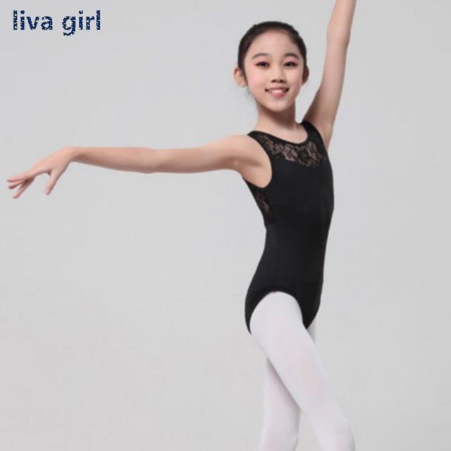 65211ef1e50074 Cotton Lycra Lace Black Tank Dance Leotard with Open Back Girls Ballet  Dancewear Ladies Costume Bodysuit