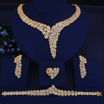 Elegant Crystal Rhinestones Large Choker Necklace Earrings Bracelet Ring Set  1