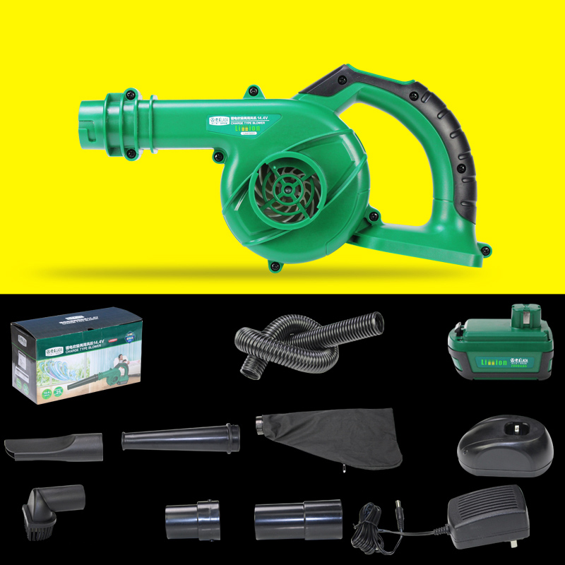 LAOA 14.4V Li-ion Electric Blower Vacuum Cleaner Home Car Cleaner Cordless Air Blower Portable Tools
