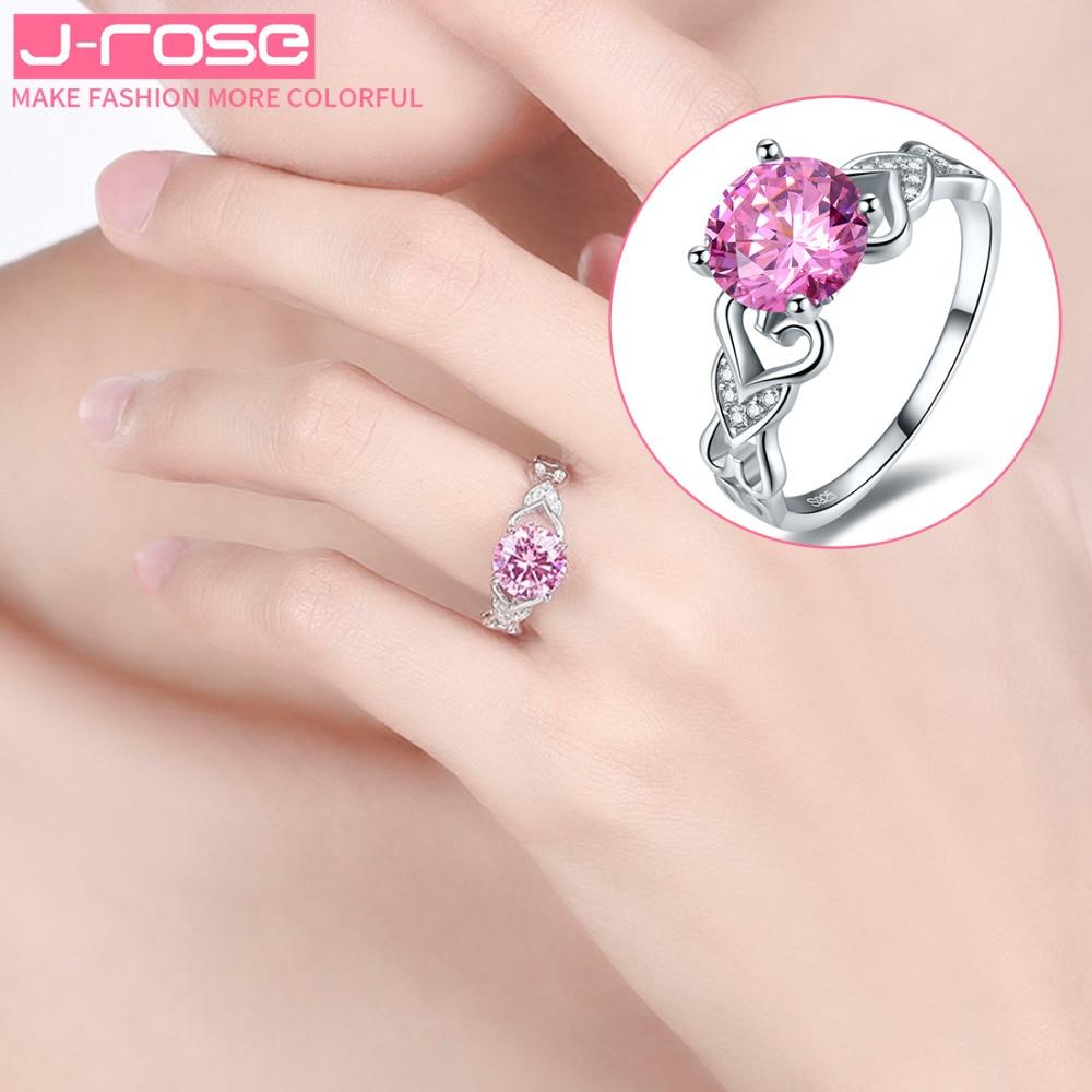 Jrose genuine CZ 925 pink rings, 100% sterling silver rings, men\'s ...