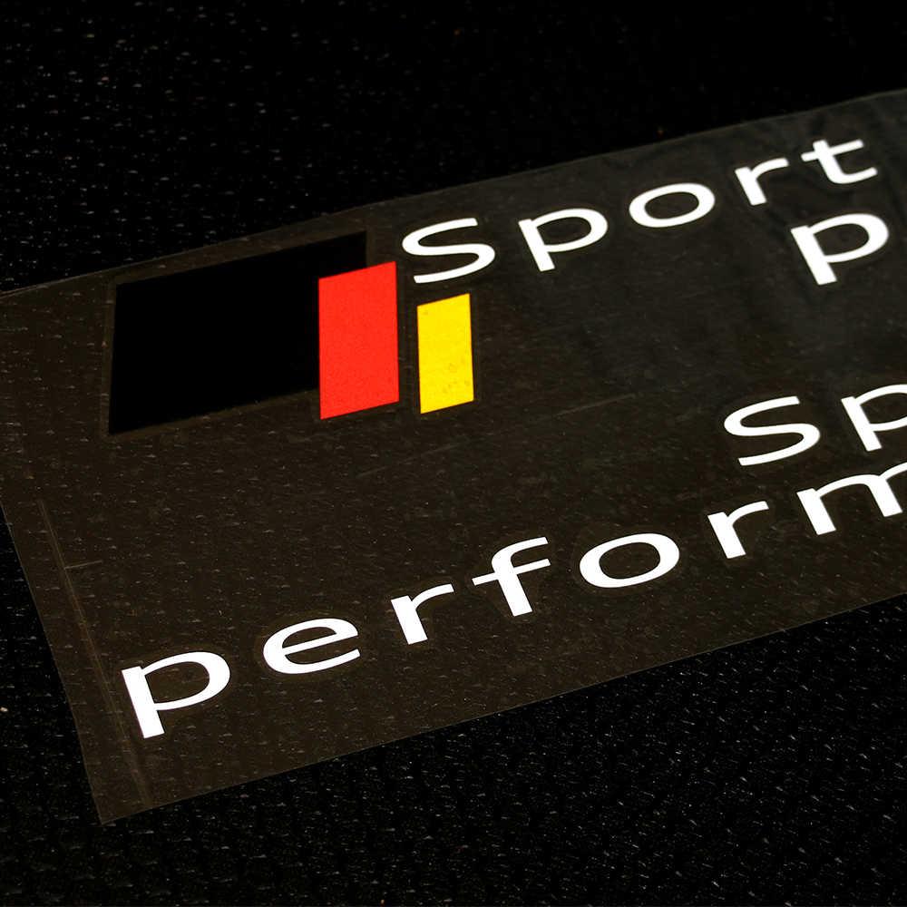 2 Pieces Sport black performance Side Door Racing Vinyl Decal Stickers for Audi a3 a4 a5 a6 s5  s6 s7 s8 q7 q5 c6 c5 tt a7 b6 b7