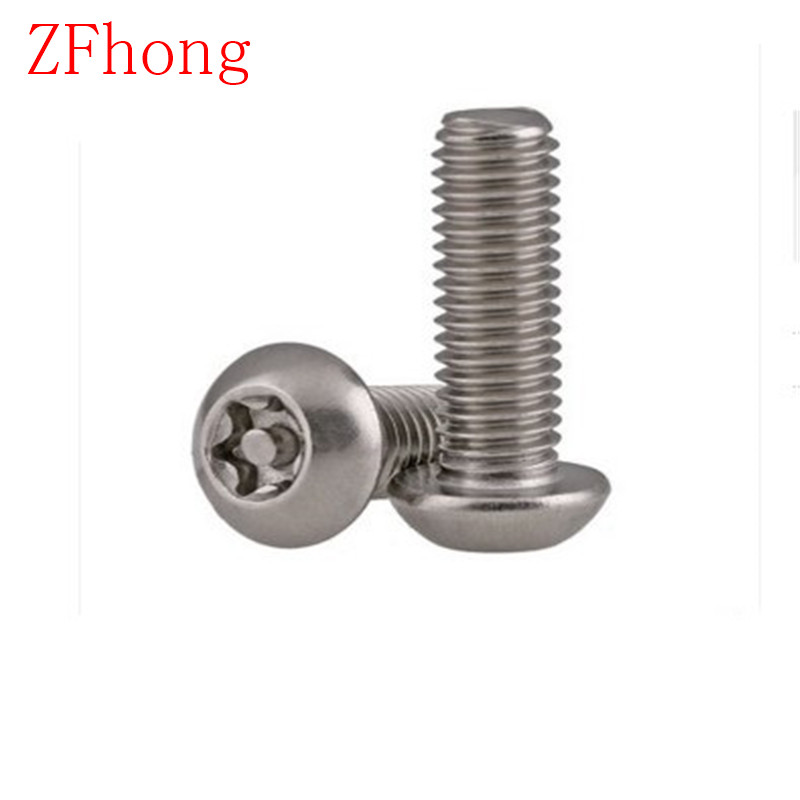 20PCS M5*6/8/10/12/16/20/25/30/40/50 A2 Stainless Steel Torx Button Head Tamper Proof Security Screw Screws chaoyang 16 2 50 16 2 5 16x2 50