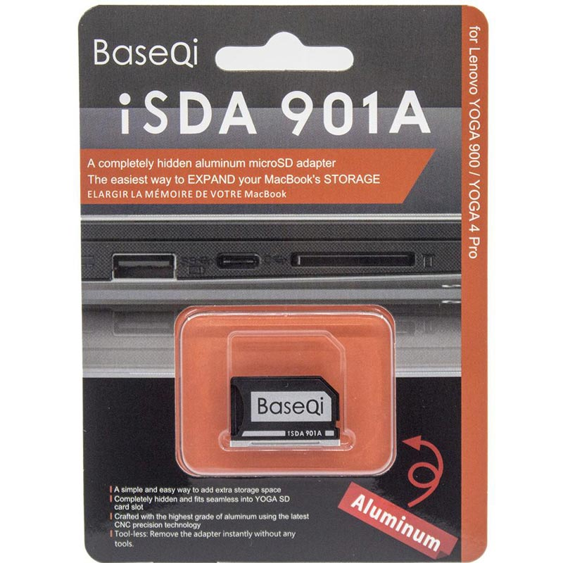 Image 5 - Original BaseQi Aluminum Minidrive Microsd Card Adapter 901A For Lenovo yoga 900 & 710 SD card reader Memory Card Adapters usb c-in Memory Card Adapters from Computer & Office
