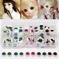 100 unids/caja 12mm Eyeballs Muñeca Media Ojos Redondos de Acrílico para DIY Ojo Muñeca de Juguete Muñeca Oso muñeca Artesanías de Plástico Color de La Mezcla partes