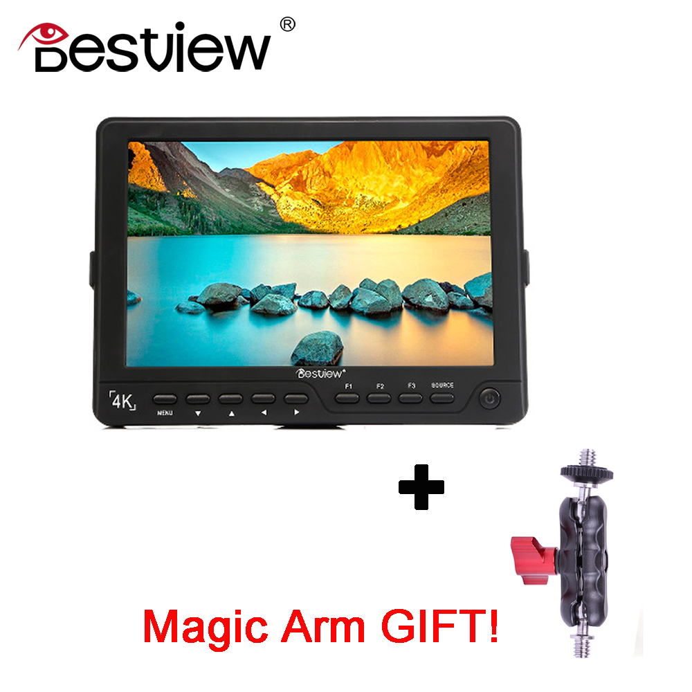 BESTVIEW S7 4K camera External display HDMI HD monitor video TFT field 7 inch DSLR lcd monitor shootout 1920*1200 new aputure vs 5 7 inch 1920 1200 hd sdi hdmi pro camera field monitor with rgb waveform vectorscope histogram zebra false color
