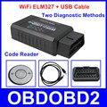 Новое Прибытие ELM327 WiFi USB Кабель Поддержка IOS Android ПК USB ELM 327 Диагностический Сканер Инструмент Два Вида Диагностический метод