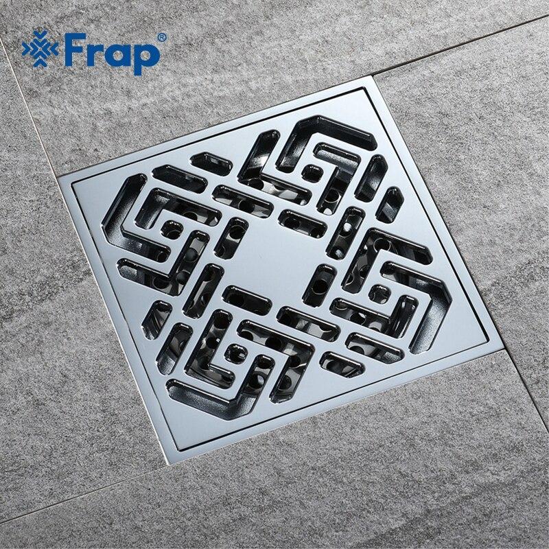 Frap Bathroom Floor Drain Square Bathroom Kitchen Floor Drain Cover Strainer Deodorant Linear Bathroom Floor Drains Cover Y38109