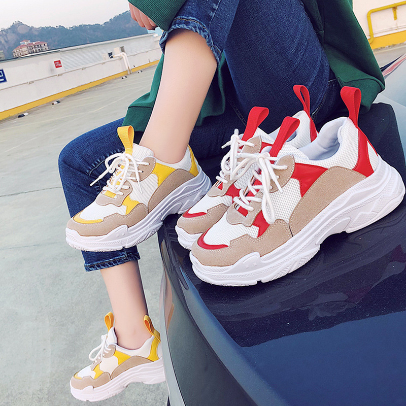 Sneakers Woman 2018 Spring New Pattern Ins Exceed Fire Real Shoes Winter Dad Ulzzang Original Su Hou Casual Shoes недорого
