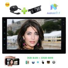 """Спереди и резервного копирования Камера + Android 7.1 Восьмиядерный 2 ГБ + 32 ГБ стерео двойной din 7 """"GPS Авторадио в тире 4 г WI-FI Bluetooth телефон ссылка"""