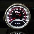 Universal 2 de Polegada 12 V 52 MM Vermelho LEVOU Exibição Carro Metros Bitola Tacômetro 0-10000 RPM