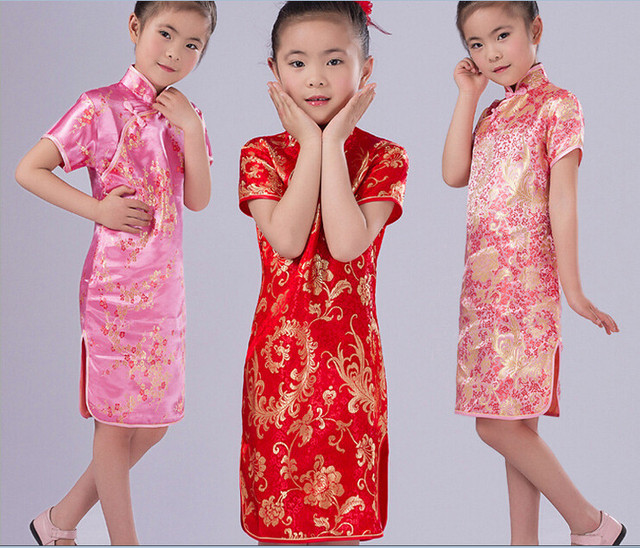 5a3ca8e941 New Chinese Japanese Oriental Children Girls Qipao Cheongsam Dress 2 to 12  Yrs