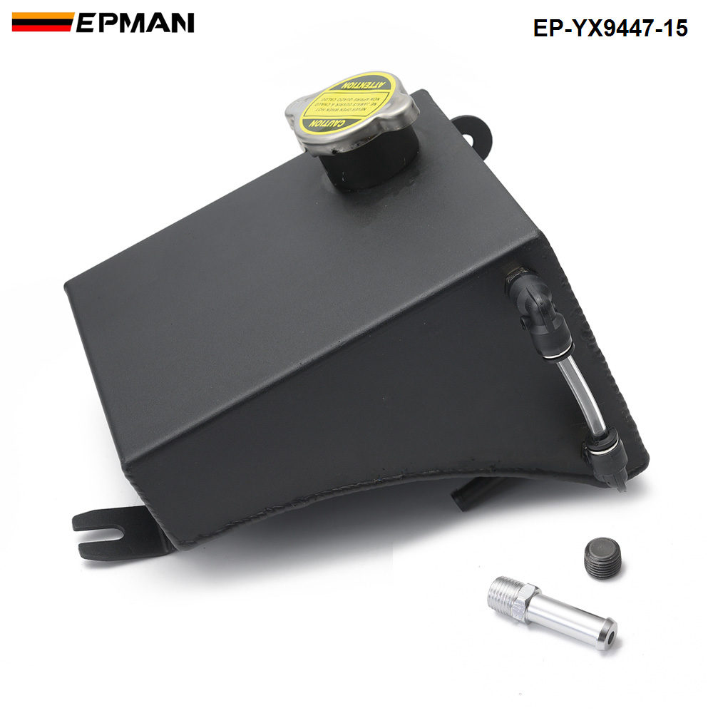 Polished Aluminum Radiator Coolant Overflow Tank Can For Nissan 240SX S13 Silvia EP-YX9447-15