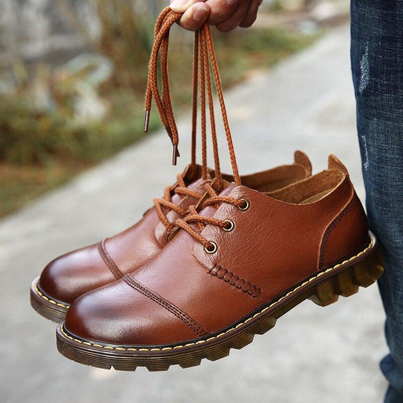 Vintage Non Hommes Chaud Oxford Cuir Décontracté VéritableHomme En Main Black brownfur blackfur brown Chaussures Hiver Tendance Automne Pour slip Au 3lcTJ1FK