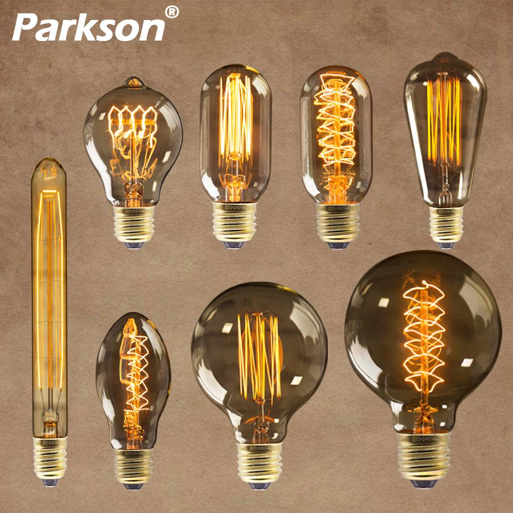 edison bulb e27 220v 40w st64 t10 g80 g95 retro ampoule vintage bulb edison lamp incandescent filament light bulb for home decor