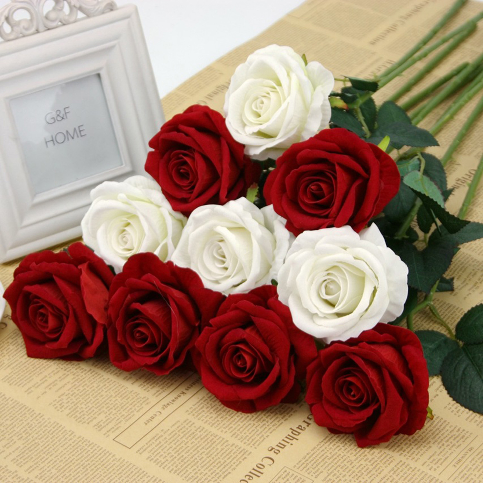 Aliexpress New Multi Color Realistic Fake Flower Arrangement Home Room Decor Rose In Silk Cloth Artificial For Wedding Decoration From
