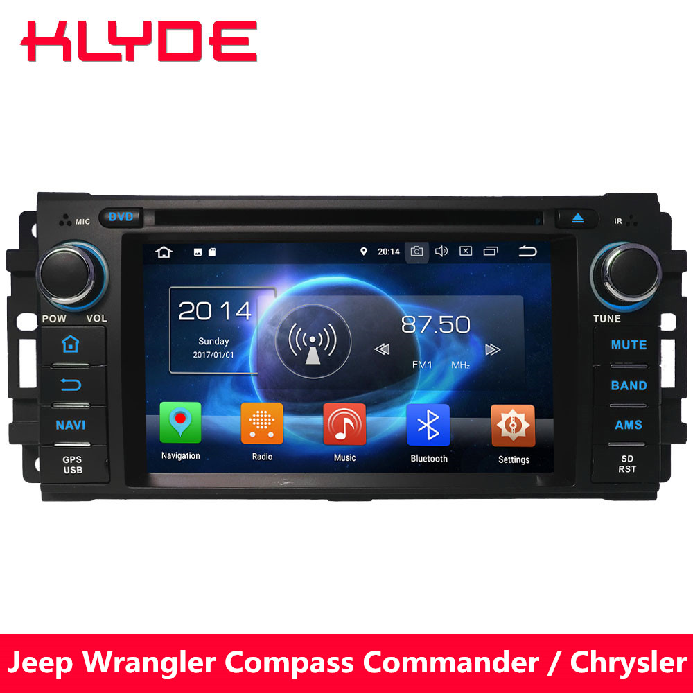 KLYDE 4G Octa Core 4GB RAM Android 8.0 7.1 Car DVD Player Radio GPS For Jeep Grand Cherokee <font><b>Chrysler</b></font> <font><b>300C</b></font> Cirrus Aspen Sebring image